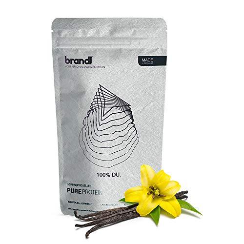brandl® Vegan Protein 4k | Pflanzliches Proteinpulver ohne künstliche Süßstoffe | Eiweißpulver laktosefrei | Veganes Proteinpulver | 600g Vanille