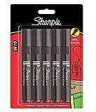 Sharpie W10 - Juego de rotuladores (5 unidades, punta cónica, tinta indeleble negra)