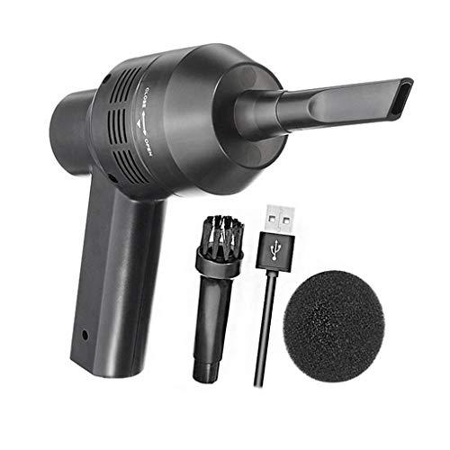 Guangcailun Teclado Negro Desk USB del vacío barredora Recargable er Sweeper colector de Polvo del colector con el Cepillo
