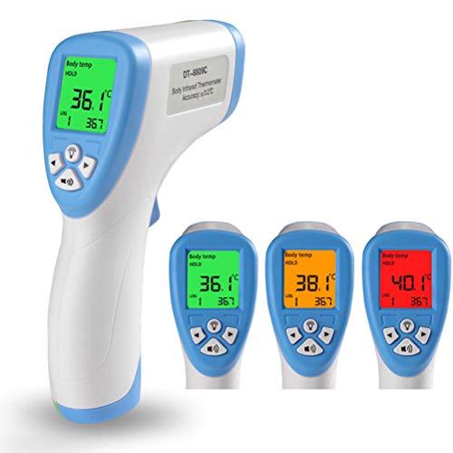 WWJJLL Digital-Infrarot-Stirn-Temperatur, Berührungslos Digital-Temperatur von Kindern und Erwachsenen, in Echtzeit und genauer Lesen von Haushalt Temperatur 3 Gelegentliche Anlieferung der Farbe