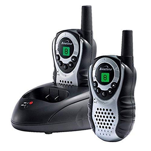 Binatone Latitude 150 - Walkie talkie radio con alcance de hasta 5 km, color negro/plata