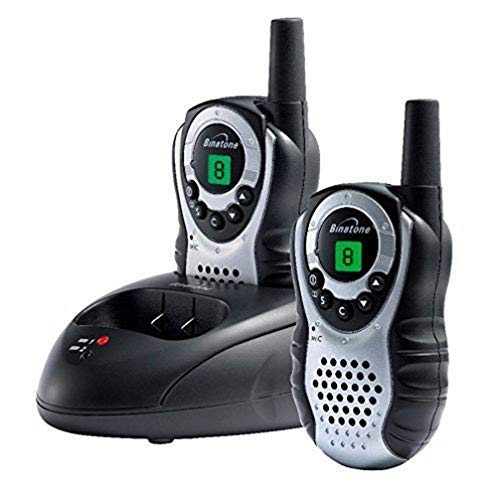 Binatone Latitude 150 - Walkie talkie radio con alcance de hasta 5 km, color negro/plata