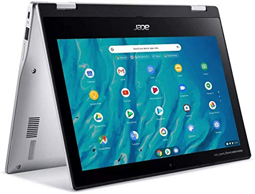 """Acer Spin 311 11.6"""" HD IPS LCD Convertible Chromebook, 8-Cores MediaTek MT8183 up to 2.0GHz, 4GB DDR4, 32GB eMMC, Wi-Fi, Bluetooth, Webcam, Chrome OS, TWE Micro 64GB SD Card"""