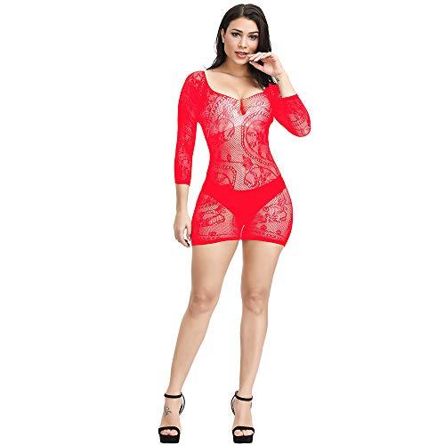 Papapai - Kimono sexy para mujer Rojo rosso Talla única