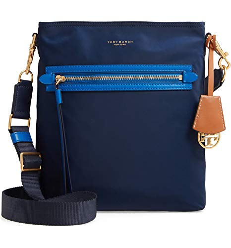 Tory Burch Perry Nylon Color Block Swingpack Royal Navy One Size