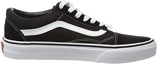 Vans Women's Canvas Sneakers, Black/White, womens 8