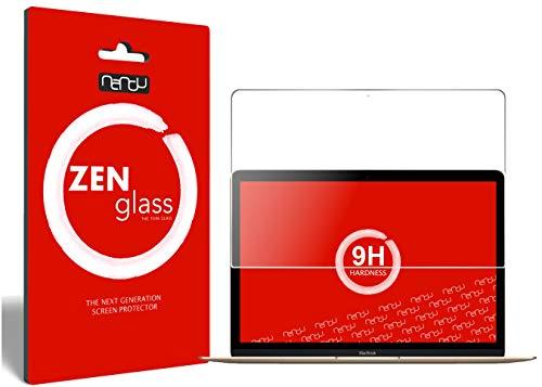 ZenGlass Flexible Glas-Folie kompatibel mit Apple MacBook 12 Zoll Retina Panzerfolie I Bildschirm-Schutzfolie 9H