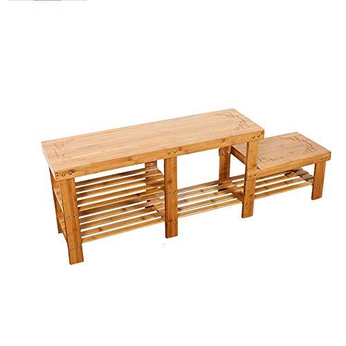 Porte-chaussures Bamboo High And Low peut être utilisé comme chaussures Bench 128 * 27 * 45cm Xuan - worth having
