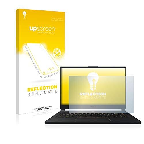 upscreen Entspiegelungs-Schutzfolie kompatibel mit MSI GS65 8SF-264DC – Anti-Reflex Bildschirmschutz-Folie Matt
