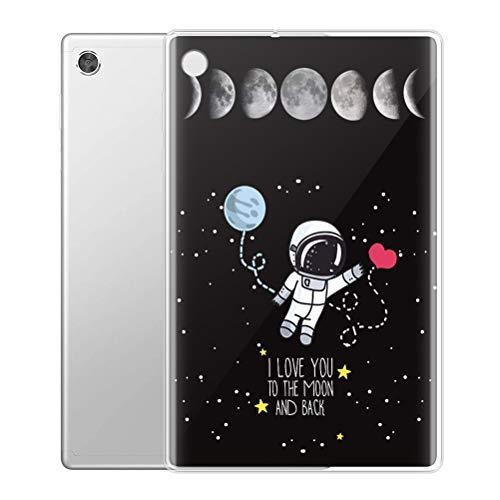 Yoedge Funda para Samsung Galaxy Tab A7 2020 10,4',Carcasa Silicona TPU Transparente con Dibujos Diseño Smart Case Cover Antigolpes Protector Tableta para Samsung SM-T500/T505/T507,Astronauta1