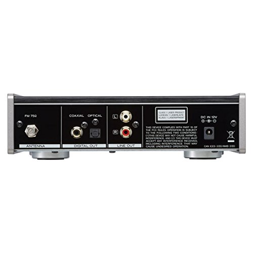 TEAC 09PD301B50 - Reproductor de CD con radio FM, color negro
