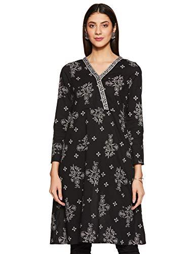 Amazon Brand – Tavasya Women's Cotton Regular Kurti