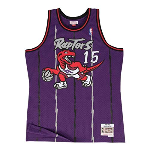 Mitchell & Ness Toronto Raptors Vince Carter Swingman Jersey (Purple, M)