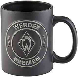 Werder Bremen Tasse Relief Logo schwarz Tee oder Kaffeebecher 0,3 Liter
