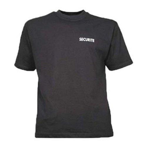 Tee Shirt sécurité Noir Coton 100%