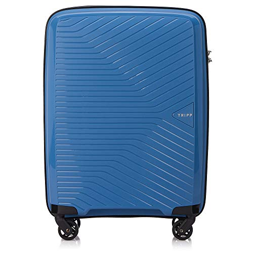 Tripp Sky Blue Chic Cabin 4 Wheel Suitcase