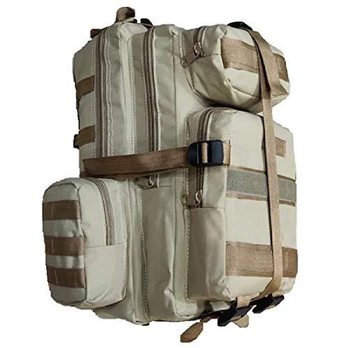 zhenshi Unisex Fashion Double Shoulder Canvas Backpack Schoolbag Travel Outdoor Sport Military Tactical (Color : Black color, Size : 30-40L)