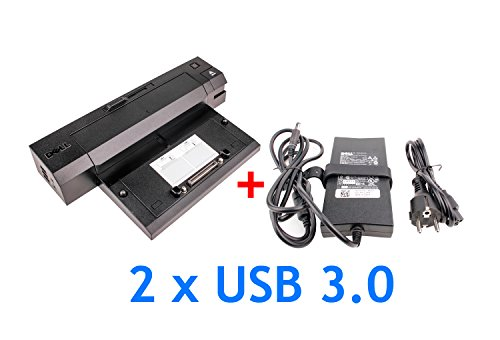 Dell Dockingstation PR02X mit 2 x USB 3.0 + Dell Netzteil PA4E 130W für E Serie