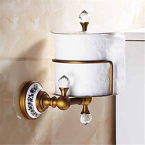 Schöner Hauptdekor nostalgische Retro-Stil geschnitzt antike Kupfer Messing/Bronze Toilettenpapierhalter Toilettenpapierhalter,Gold
