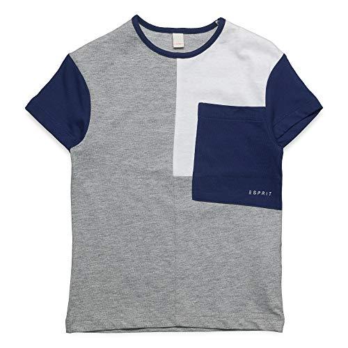 ESPRIT KIDS Jungen Short Sleeve Tee T-Shirt, Grau (Mid Heather Grey 260), (Herstellergröße: 116+)