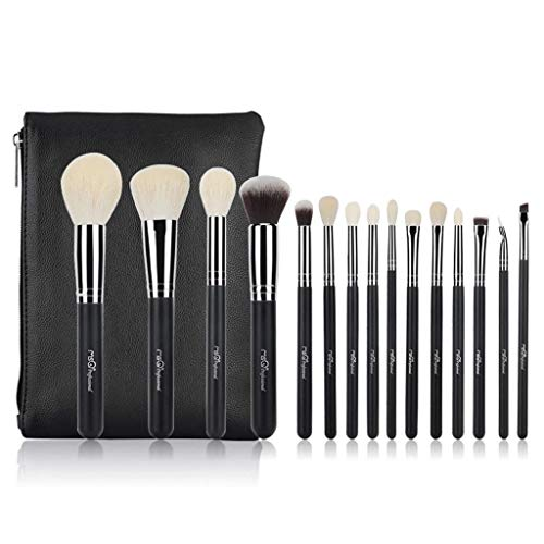 QXX-Make-up Brush Pinceaux de Maquillage Professionnels avancés Outil de mélange de Base avec Sac de Rangement de Voyage Crayon à Sourcils Lèvres à paupières Fondation Pinceau