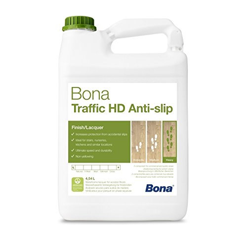 Bona Traffic HD Antislip Parkettlack - 4,95 Liter - R 9 Versiegelung, 2 K Parkettlack