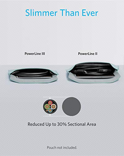 Anker Powerline III Lightning Kabel 180 cm lang, extrem strapazierfähig, MFi-zertifiziertes Ladekabel für iPhone X, Xs, Xr, Xs Max, 8, 8 Plus, 7, 7 Plus, 6, 6 Plus und mehr(1.8m, Schwarz)