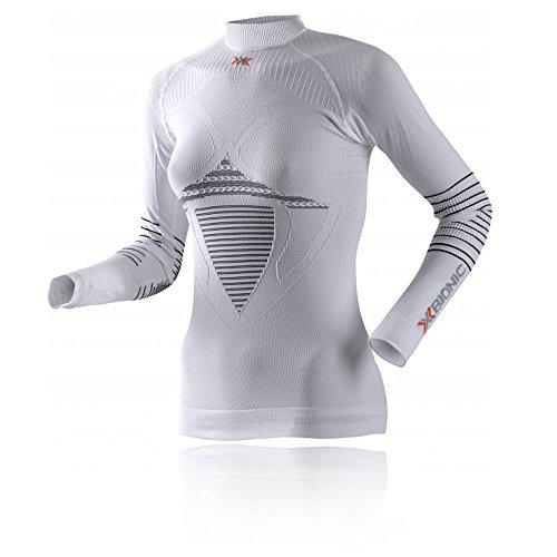 X Bionic Lady Energizer Mk2 UW Turtle Neck, pour Femme, Blanc/Noir, XS
