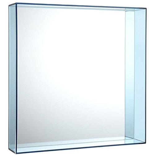 Kartell 8340AZ, Specchio Only Me, in polimetilmetacrilato, 50 x 50 cm, Colore: Blu, blu (blau)