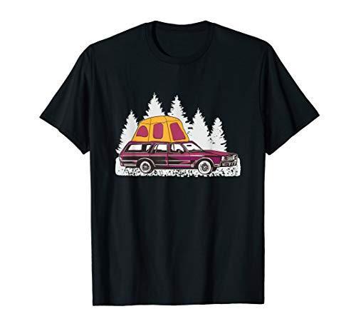 Camping Auto mit Autodachzelt - Minicamper mit Dachzelt T-Shirt