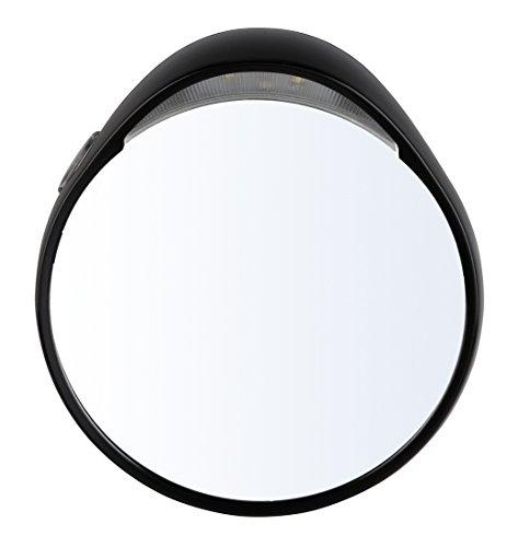 TWEEZERMAN Kosmetikspiegel Tweezermate 10-Facher Vergrößerungsspiegel mit LED Licht und Saugnäpfen