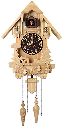 Reloj de Cuco, Sala de Estar de Moda Reloj de Pared Reloj Despertador Calidad Reloj de Bolsillo Swing Moderno Breve Tiempo de transmisión por Hora