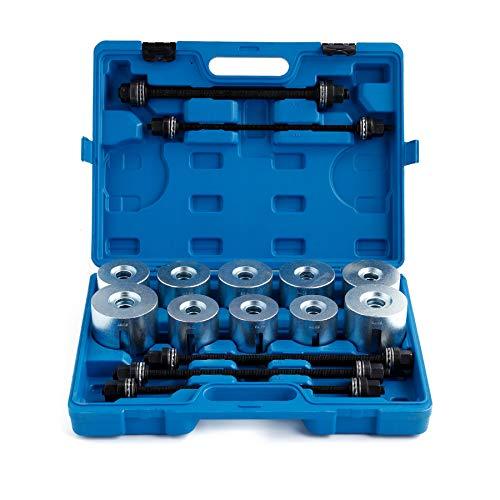 Sfeomi Lager Removal Tool 27 Stücke RadLager Puller Drücken Pull Sleeve Kit mit Aufbewahrungskoffer Auto LGV HGV Universal Bush Lagerextraktion Einsetzen Werkzeuge Set Autos