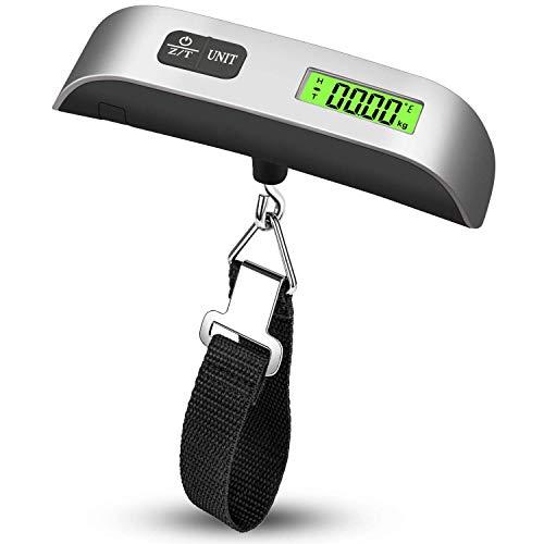 吊りはかり 荷物 旅行はかり デジタル はかり/ベルト吊り下げ式ラゲッジチェッカー/計量器/携帯式デジタル スーツケース スケール 便利 軽量 風袋引き機能付 電子はかり 【測定可能単位:kg, g / 最大50kgまで量れる /LCD液晶ディスプレイ/温