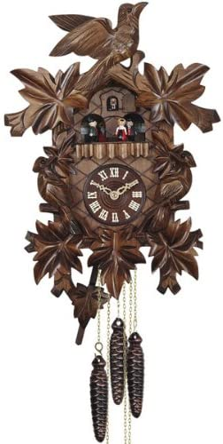 Quartz Cuckoo Clock with Music Ranking integrated 1st place Dancing Hand and Couple All items free shipping Car Made