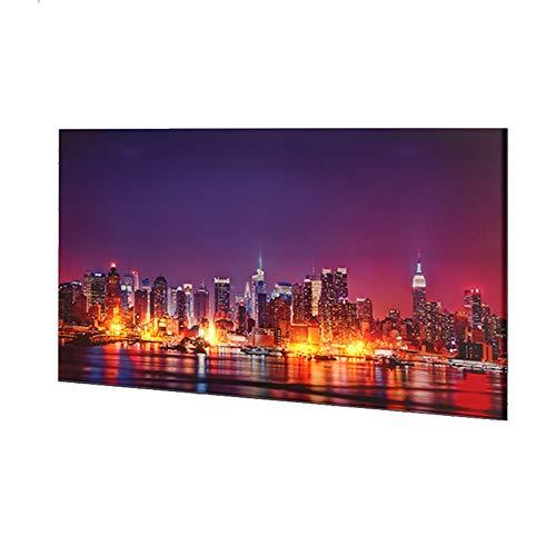 Dapo® LED-Wand-Leinwand-Bild-Leuchte-Lampe 60x40cm Stimmungs-Dekorations-indirekte-Leuchte-Lampe-Beleuchtung Batteriebetrieben, EIN/Aus-Schalter (New York)