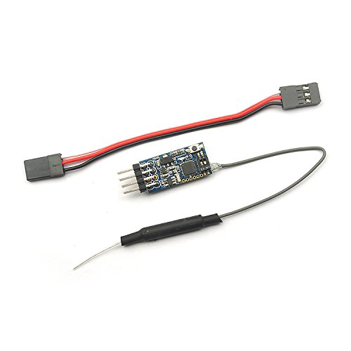 Cosiki Receptor de cuadricóptero RC, Compatible con Receptor de Drone Frsky X9D, Mini Receptor de Retorno bidireccional de 8 vías, Alcance de 1000 m, 12 x 25 mm para FRSKY ACCST X9D (Plus) DJT