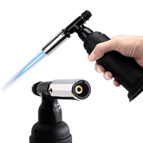 Blow Torch Lighter, Kitchen Butane Torch Lighter, Cooking Refillable Culinary Torch Butane for BBQ, Baking, Creme Brulee, Soldering, Camping