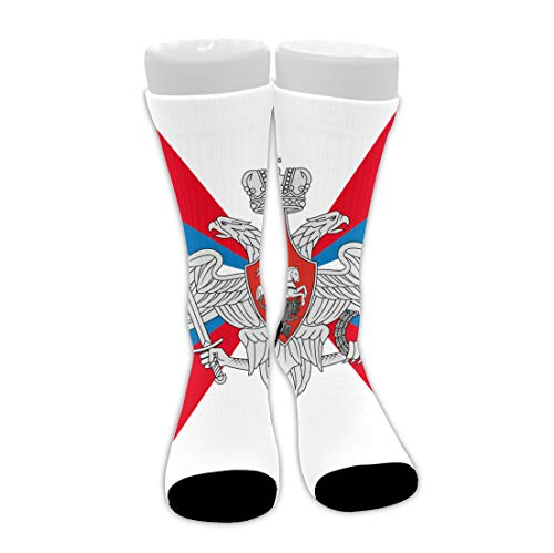 Premium Flag Of The Ministry Of Defence Of Russian Federation Mid-Calf Stockings Comfy Breathable Hiking Socks Classics Compression Socks Great Gift For Women Teens Girls