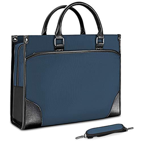 NUBILY Laptop bag 15.6 inch Briefcase Shoulder Messenger Bag Laptop Case Water Resistant Computer Bag Business Carrying Handbag for Men/Women Blue