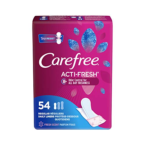 Care Free Acti-Fresh Body Shaped Regular Pantiliners, Fresh Scented, 54 Count-$2.57