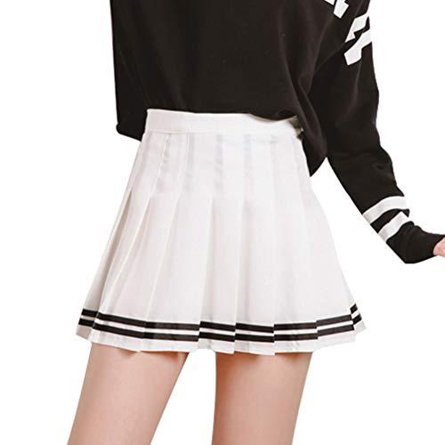 Mxssi Kawaii Vintage para Mujer una Cintura Alta Falda Plisada Mujer Japonesa Harajuku Estilo Británico de Muy Buen Gusto Faldas Lindas para Mujeres