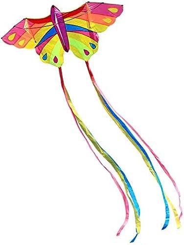Bunter Drachen, Outdoor Butterfly Form Erwachsene Größe Drachen Kind Spielzeug Brise Einfach Zu Fliegen Reise Drachen, 2  3,9 Mt (Farbe   Rosa)