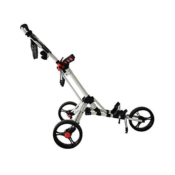 CBPE-Chariot-De-Golf-3-Roues-Pliable-Porte-Parapluie-Et-Porte-Tee-en-Aluminium-Frein-Au-Pied-Et-Poigne-Rembourre-Ajustable-Une-Seconde-pour-Ouvrir-Et-Fermer