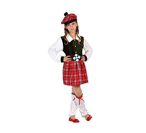 Atosa-6137 Disfraz Escocesa, Color Rojo, 3 a 4 años (6137)