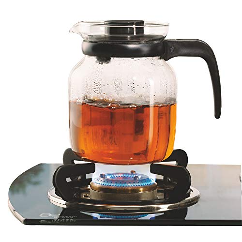 Borosil - Carafe Flame Proof Glass Kettle with Stainer, 1.2L