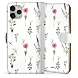 DeinDesign Étui Compatible avec Apple iPhone 11 Pro Max Étui Folio Étui magnétique Fleurs...