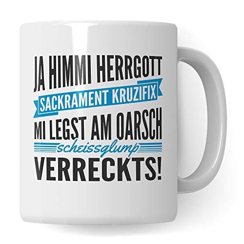 Pagma Druck Tasse Bayern Geschenk - bayerisch Geschenk Kaffeetasse - Kaffeebecher bayrisch Witz Motiv - Becher boarischer Spruch