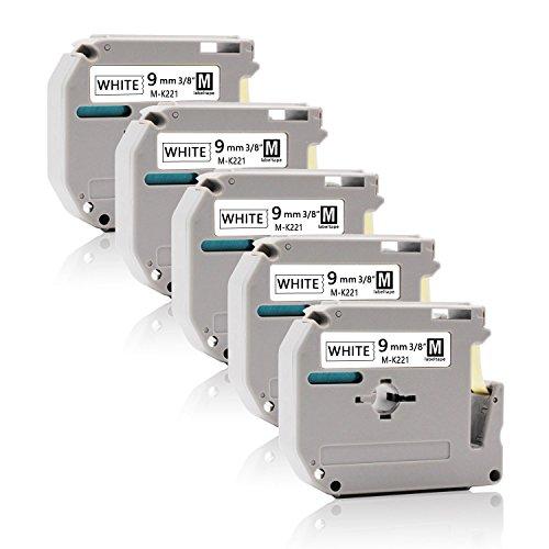 Schriftband kassette für Brother M-K221 MK-221 12mm P-Touch 110 55 60 65 75 80