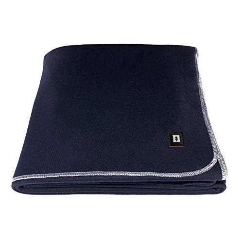 EKTOS 90% Wool Blanket, Grey, Warm & Heavy 4.4 lbs, Large Washable...